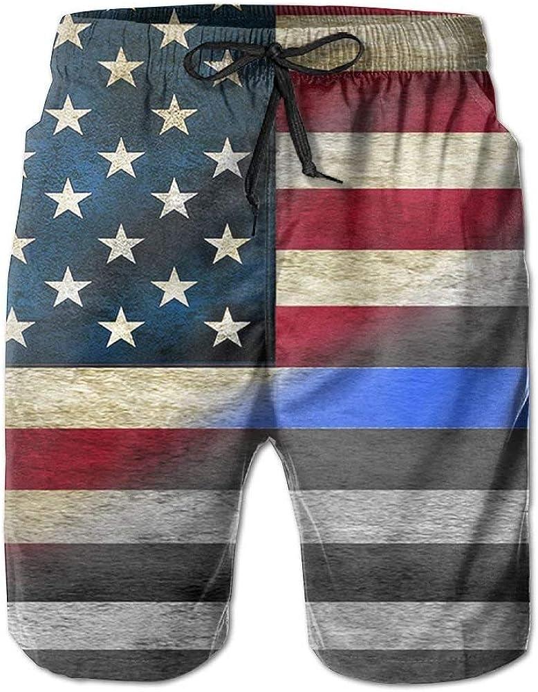 KLING Pantalones Cortos de la Bandera Azul Americana Shorts de baño para Hombre Pantalones Cortos de Playa de Moda Pantalones Cortos Casuales Pantalones Cortos de Playa: Amazon.es: Ropa y accesorios