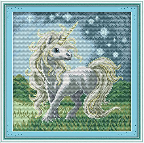 Happy Forever Cross Stitch, Animals, beautiful unicorn