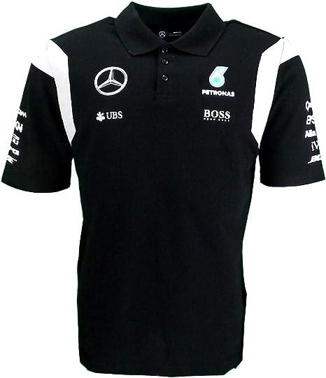 Mercedes AMG F1 Replica equipo Puma Polo camisa negra oficial 2016: Amazon.es: Deportes y aire libre
