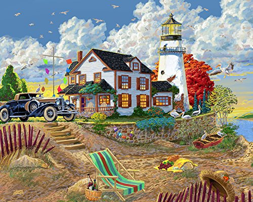 Vermont Christmas Company Lighthouse Visitors Jigsaw Puzzle 1000 Piece