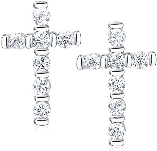 Black CZ Earrings-Sterling Silver-Girl/'s Fashion,Bridal,Stud,Fancy,Gift Idea