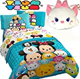 DISNEY TSUM TSUM 'All Mashed Up' Multi Color Twin/Full Size Comforter(71'' x 86'') & FULL SIZE Sheet Set + One MARIA TOSS PILLOW! (FULL SIZE)