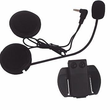 Evary - Micrófono de intercomunicador y auriculares + casco con clip, recambio de accesorios de
