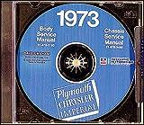 COMPLETE & UNABRIDGED 1973 PLYMOUTH REPAIR SHOP & SERVICE MANUAL & BODY MANUAL CD INCLUDES: Suburban (Custom & Sport), Fury models, Satellite Models, 'Cuda (Barracuda), Roadrunner, Duster (340), Valiant Scamp & Special