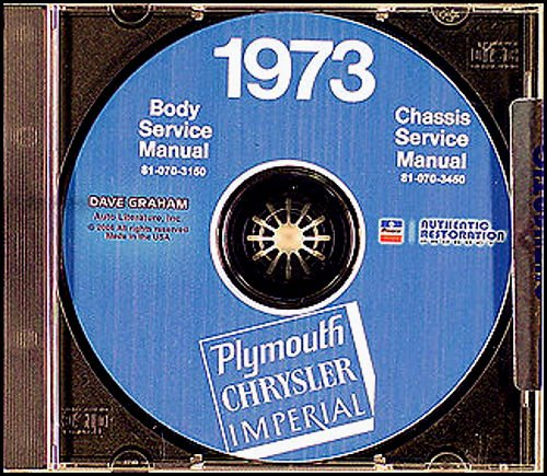 complete & unabridged 1973 plymouth repair shop & service manual & body  manual cd includes: suburban (custom & sport), fury models, satellite  models,