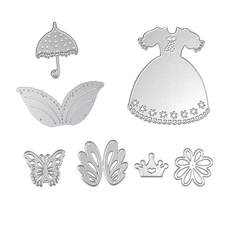 mimgo Store Vestido de cortapastas diseño de metal molde para DIY álbum de recortes Tarjeta de