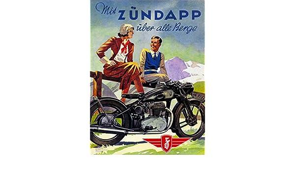 1938 Nuremberg Germany Zundapp Motorcycle Vintage Travel