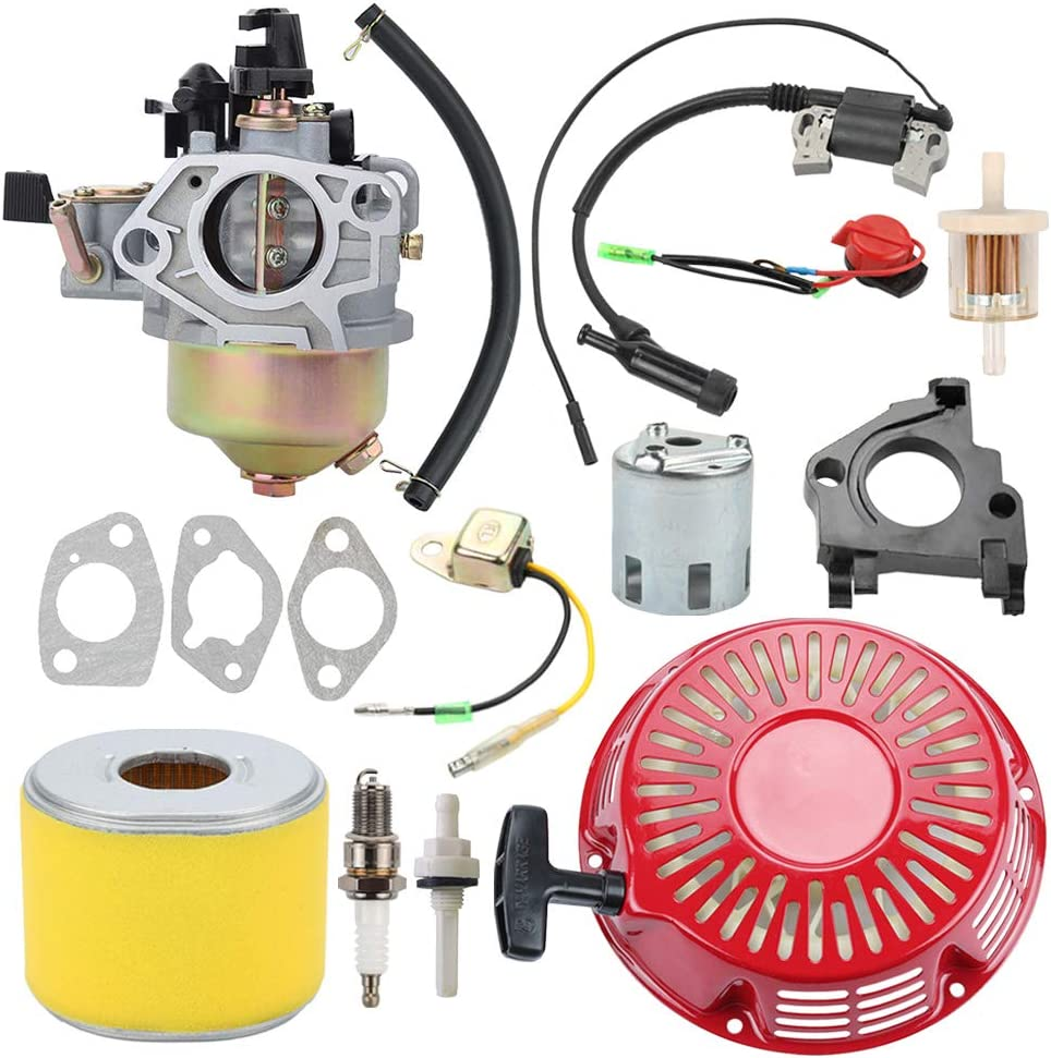 Harbot GX390 Carburetor Carb Recoil Starter for Honda 390 340 GX GX340 13HP 11HP EnginesParts Replace 16100-ZF6-V01 16100-ZF6-V00
