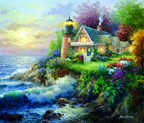On Guard 550 Piece Jigsaw Puzzle by SunsOut - Lighthouse Theme