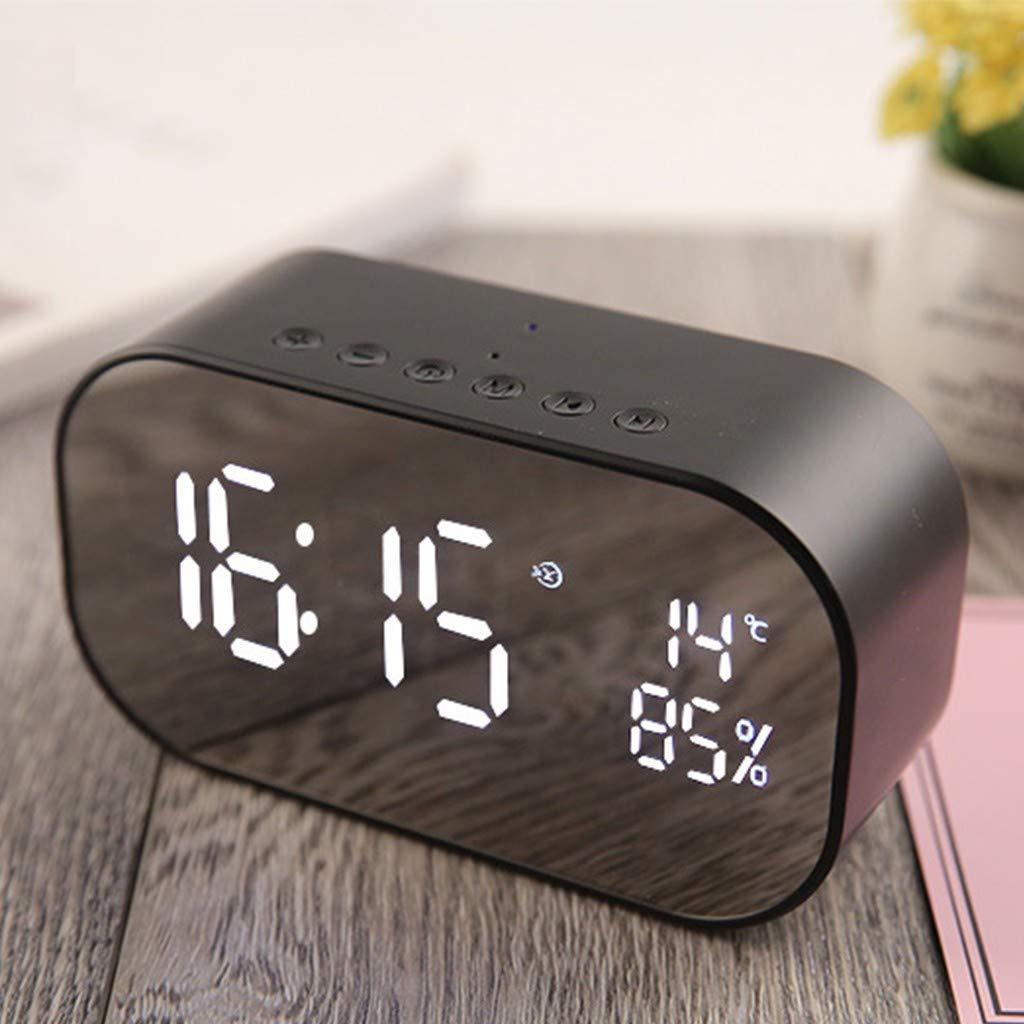yAyusi Double Speaker Mirror Bluetooth Speaker Support FM Clock