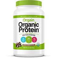 Orgain Organic Plant Based Protein Powder, Creamy Chocolate Fudge, Vegan, Gluten Free, Kosher, Non-GMO, 2.03 Pound (Packaging May Vary)