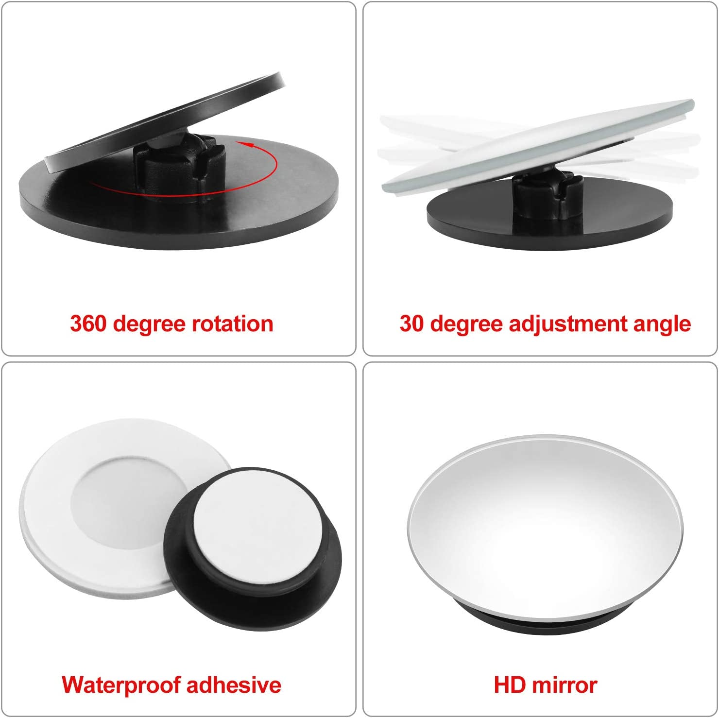 SUV Frienda 3 Pieces Wide Car Rearview Mirrors Anti-Glare Universal Mirrors Blind Spot Mirrors Round Rearview Mirrors for Car Truck