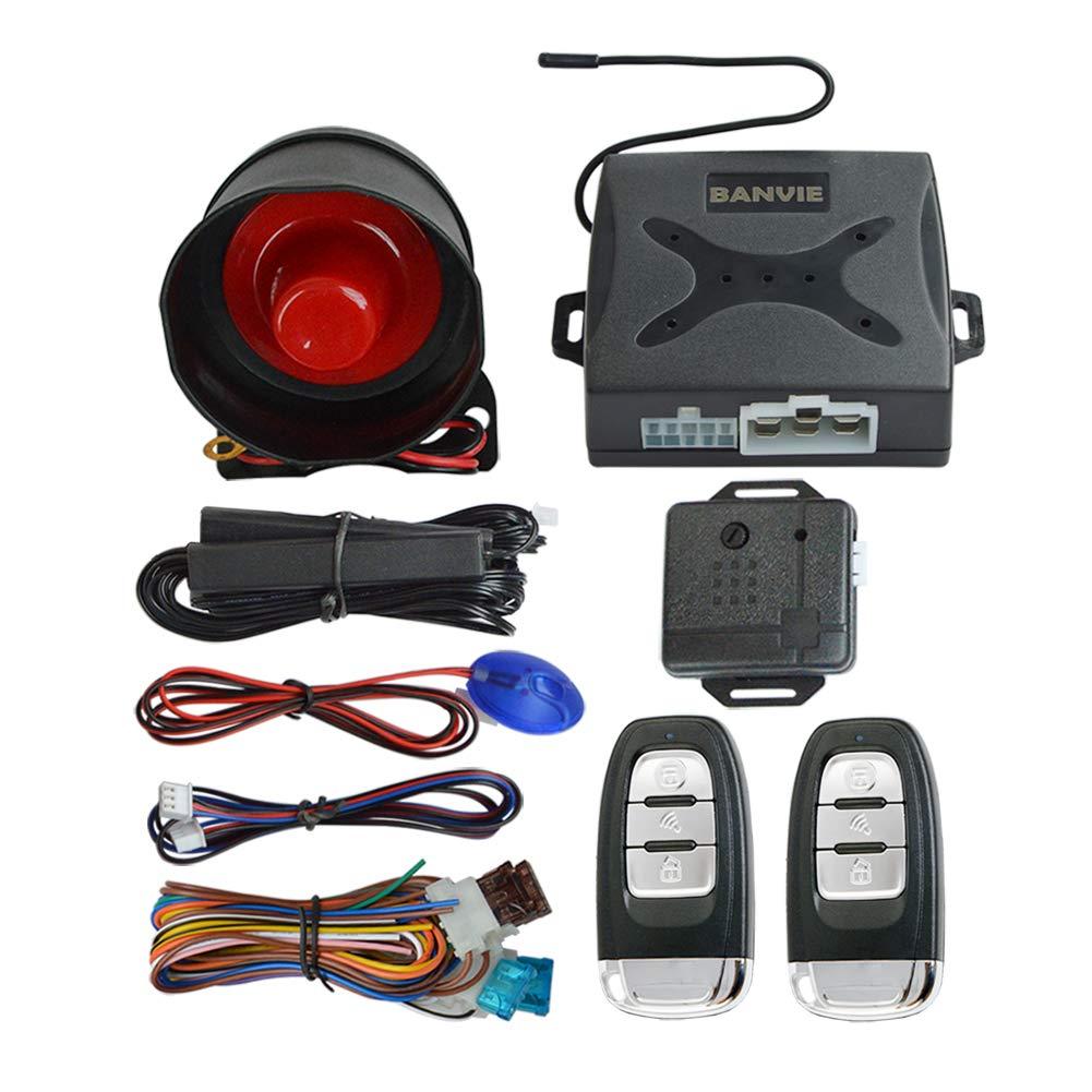 BANVIE PKE Car Alarm System with Passive Keyless Entry by BANVIE