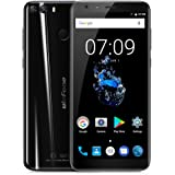 "Ulefone MIX 2 Smartphone 4G Android 7.0 (MTK6737 Quad Core 1.3GHz, 5.7"" 18:9 HD+ Schermo, 2GB RAM 16GB ROM, 13MP+5MP+8MP Camera, Fingerprint ID, Dual SIM, 3380mAh Batteria, GPS, WIFI, OTG) Nero"