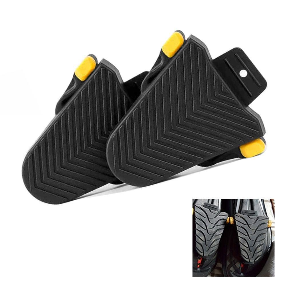 FOONEE - Juego de Cubiertas para Zapatos de Ciclismo, Bicicletas de Carretera/Interior para Shimano SPD-SL Pedal Cleat Systems, 1 par (Negro)