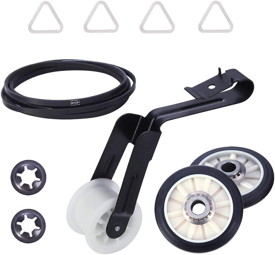 4392065 Dryer Repair Kit for whirlpool kenmore roper admiral maytagamana crosley estateinglis kitchenaid sears Including Belt 341241, Idler 691366, Rollers 349241t