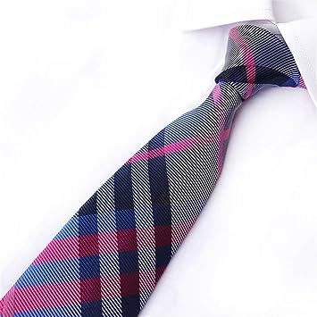 Zjuki corbata 8 cm Lazo para el Hombre clásico de la Raya de la ...