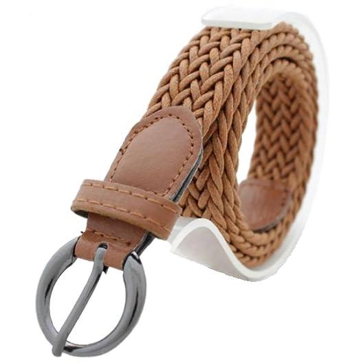 0ed3e4d0c Women Braided Belts Faux Leather Woven Belt at Amazon Women's Clothing store :