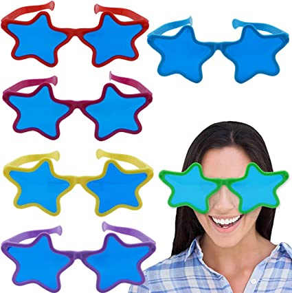 10PCS Plastic and paper Party Eyeglasses Frames Colorful Fun Glasses for Kids