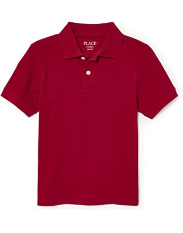 de82d9551 The Children's Place Boys' Short Sleeve Uniform Polo