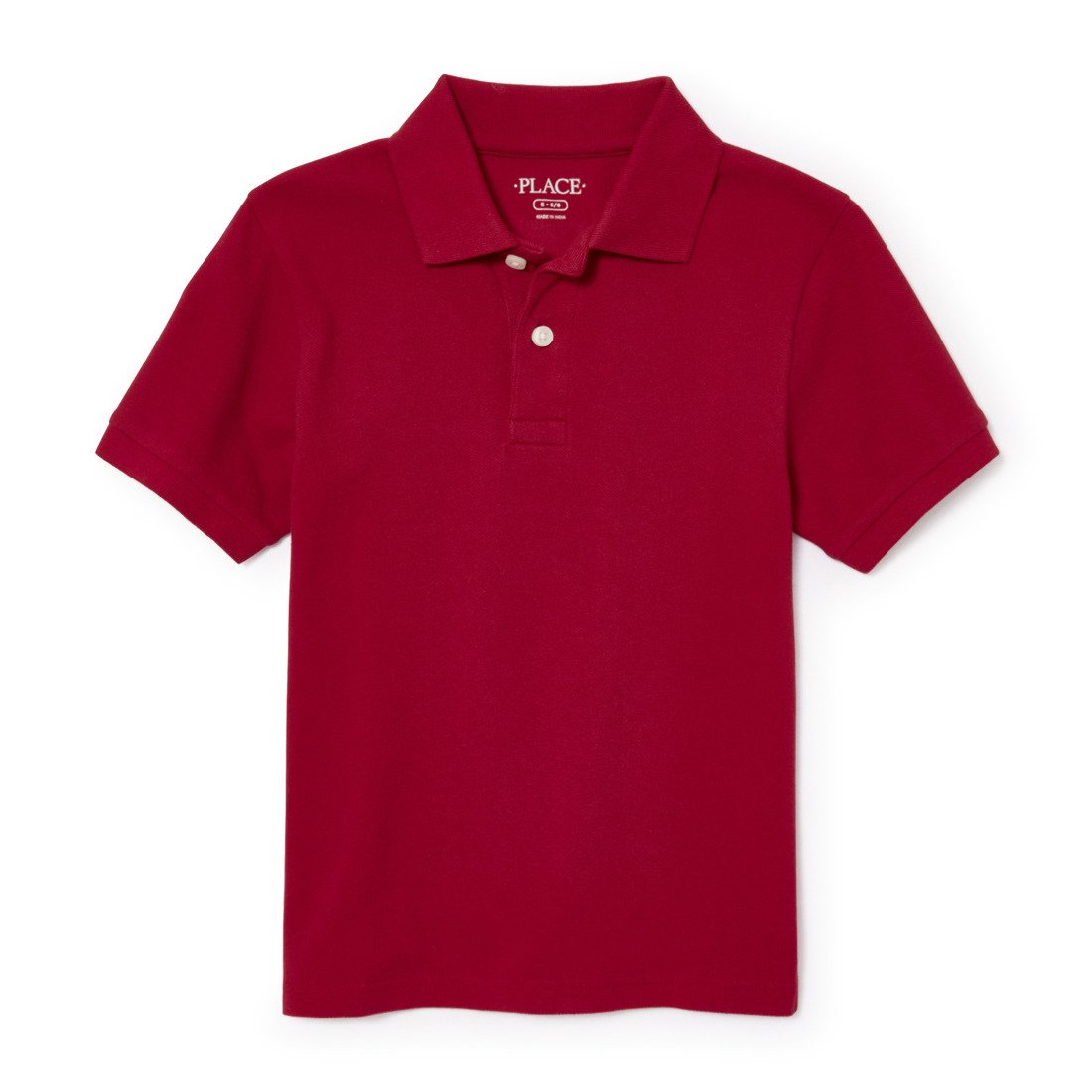 The Children's Place Big Boys' Short Sleeve Uniform Polo, CLASSICRED 4756, Medium/7/8
