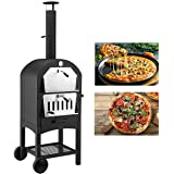 U-MAX Outdoor Pizza Oven Wood Fire with Waterproof Cover, Freestanding, Steel Pizza Grill, Pizza Maker Camping Cooker with Pi