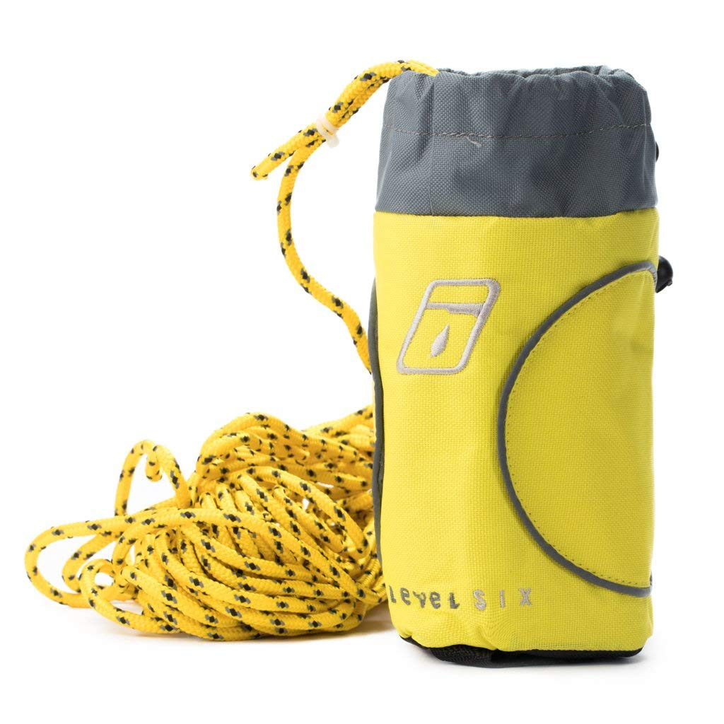 Level Six Safety:GMA-MOSQ-YE Mosquito 16M Safety Throw Rope with 1//4 Polypro Rope Kayak Outfitting Hardware