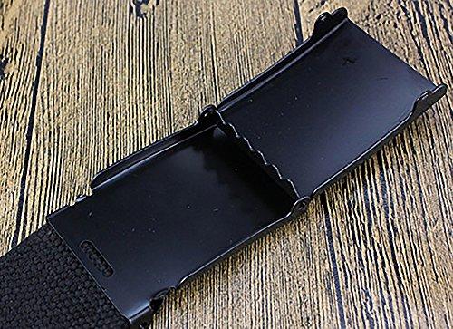 Gespout Ceinture Homme Femme Tissu Noir Casual Sans métal 110cm Pour Sports  Voyages Shoppings Jeans  Amazon.fr  Vêtements et accessoires a9fd9e1a038