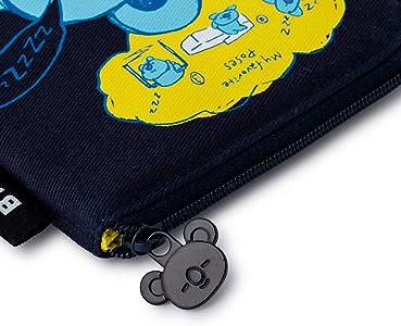 NEW BTS BT21 Men/'s Zipper Short Wallet Credit Card Holder Case Coin Purse Unisex