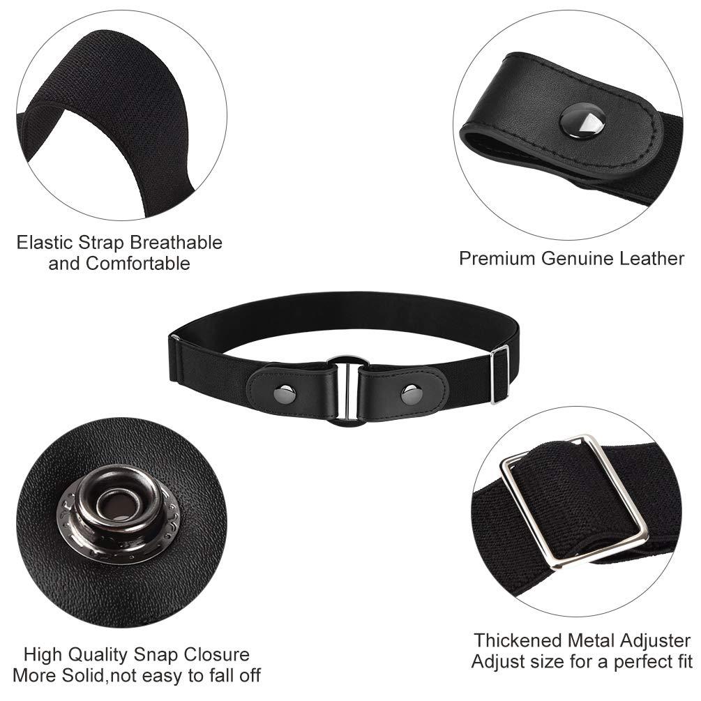 VBIGER Cinturón elástico invisible sin hebilla para hombres Ancho 1.4\
