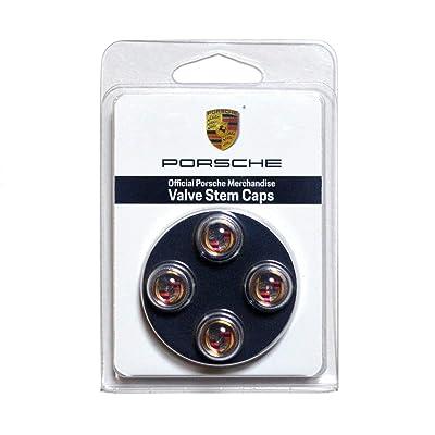 Porsche Color Valve Stem Caps, Set of Four: Automotive