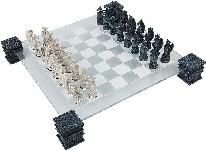 Nemesis Now Dragon - Juego de ajedrez (43 cm), Color Negro: Amazon.es: Juguetes y juegos
