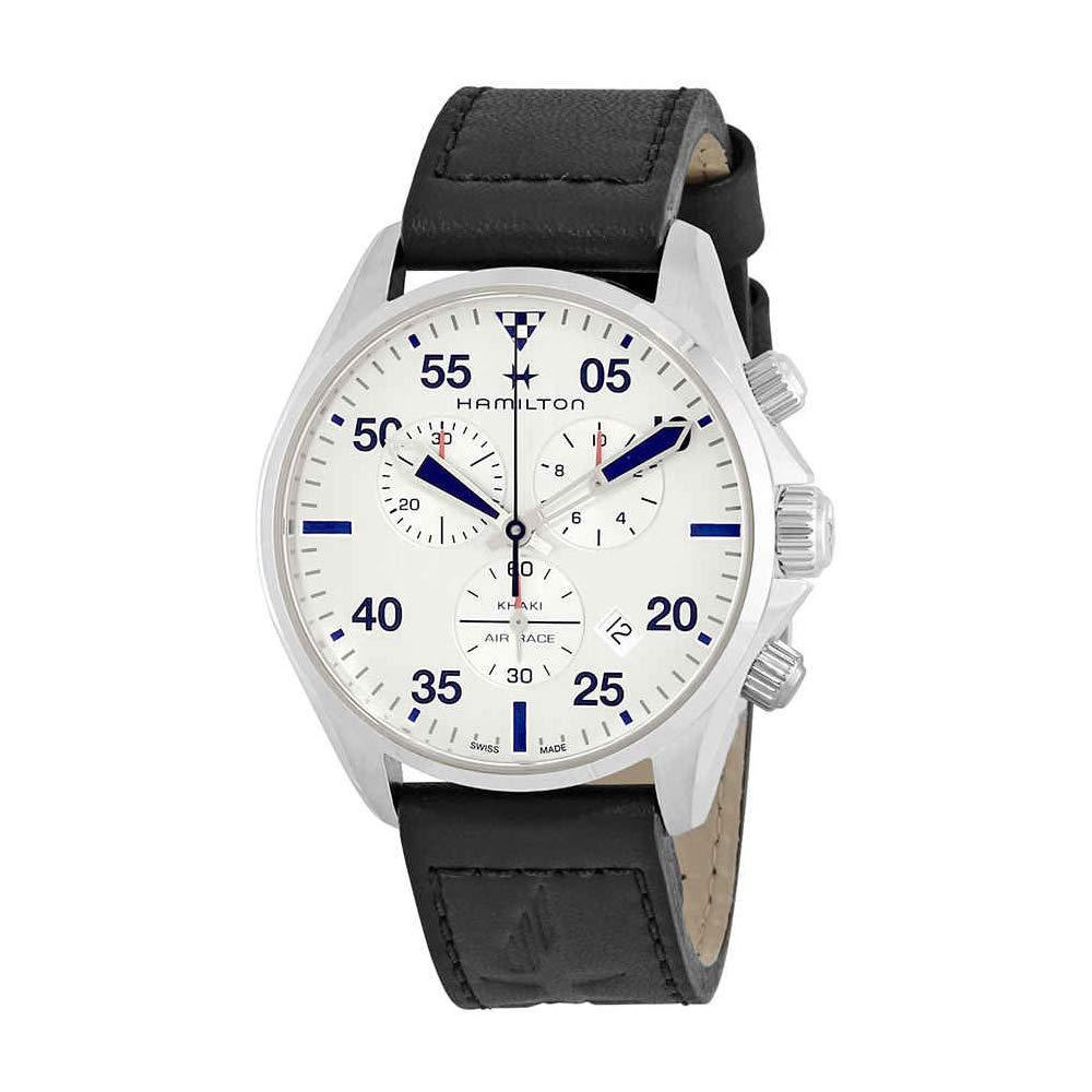 14bfaf835 Amazon.com: Hamilton Men's Khaki Pilot Chrono Quartz - H76712751  Silver/Silver One Size: Hamilton: Watches