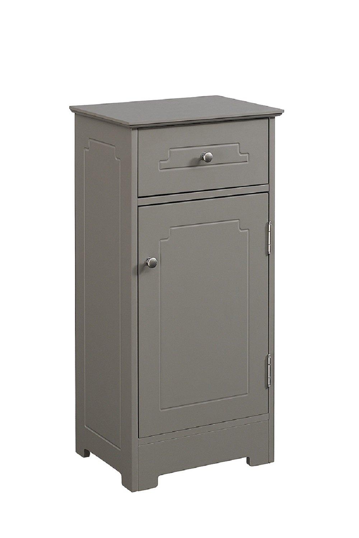 Runfe|#Runfine RFBG01013 BR &Nameinternal Superbly Crafted Floor Cabinet In Modern Gray Color, 1 Drawer, 1 Door with Adjustable Shelf, Chrome Hardware,