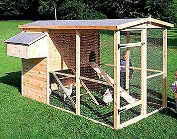 Hühnergehege hühnerstall mit auslauf 172x291x179 cm hühnergehege amazon de haustier