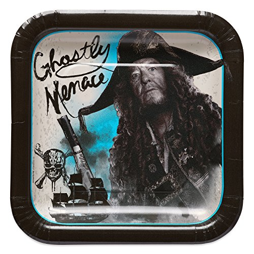 American Greetings Pirates of the Caribbean Dessert Square Plate (8), Dessert Plates, 8-Count