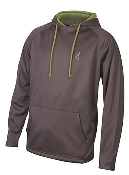 ee15a744f Amazon.com: Browning Men's Buckmark Performance Hoodie Sweatshirt Charcoal  Gray Size Small: Clothing