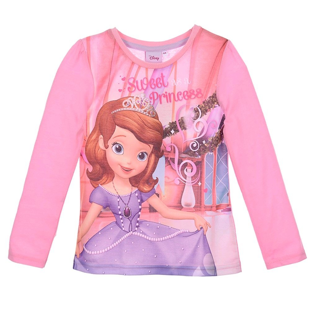 T-SHIRT PRINCIPESSA SOFIA BAMBINA RAGAZZA SUN CITY 3/6 ANNI - PH1398ROSA Cartoon