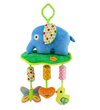 Baby Toy Rattles Stroller Kids BB Car Bed Hanging Educational Plush Toy 6A