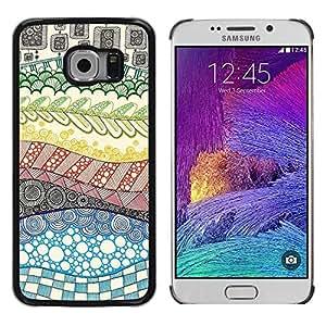 Be Good Phone Accessory // Dura Cáscara cubierta Protectora Caso Carcasa Funda de Protección para Samsung Galaxy S6 EDGE SM-G925 // Hand Drawn Rainbow Abstract