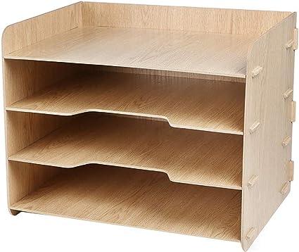 5 divisori Pukkr Archiviazione di lettere e posta Vassoi per archiviazione in legno Portariviste e documenti Desktop ordinato Organizzatore di file Office Desk