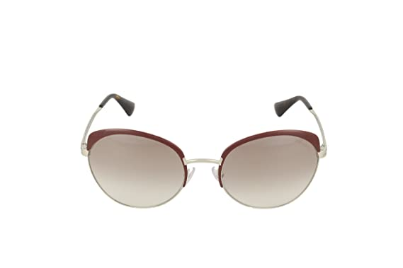 95123f31614 Amazon.com  Prada Women s 0PR 54SS Amaranth Silver Mirror Brown ...