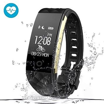 Kainuoa Montre connectée Bracelet Fitness Tracker dActivité Fréquence Cardiaque Podomètre Sport Notification Message Appel