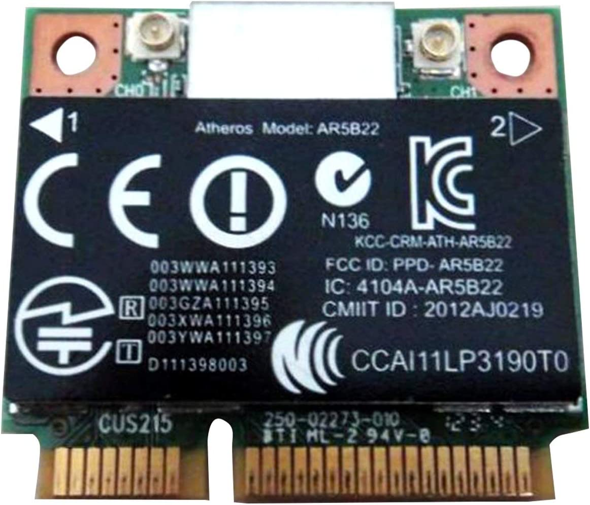Atheros Qualcomm Ar9462 Ar5b22 Wb222 Half Mini Pci-e Bluetooth Bt Wireless WiFi Card