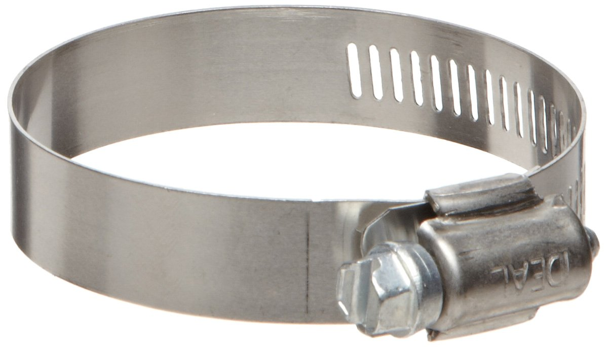 57 mm Hose OD Range 32 mm Ideal-Tridon Hy-Gear 50 Series Stainless Steel 201//301 Worm Gear Hose Clamp Fits 1-1//4-1-5//8 Hose ID 28 SAE Size Pack of 10 General Purpose