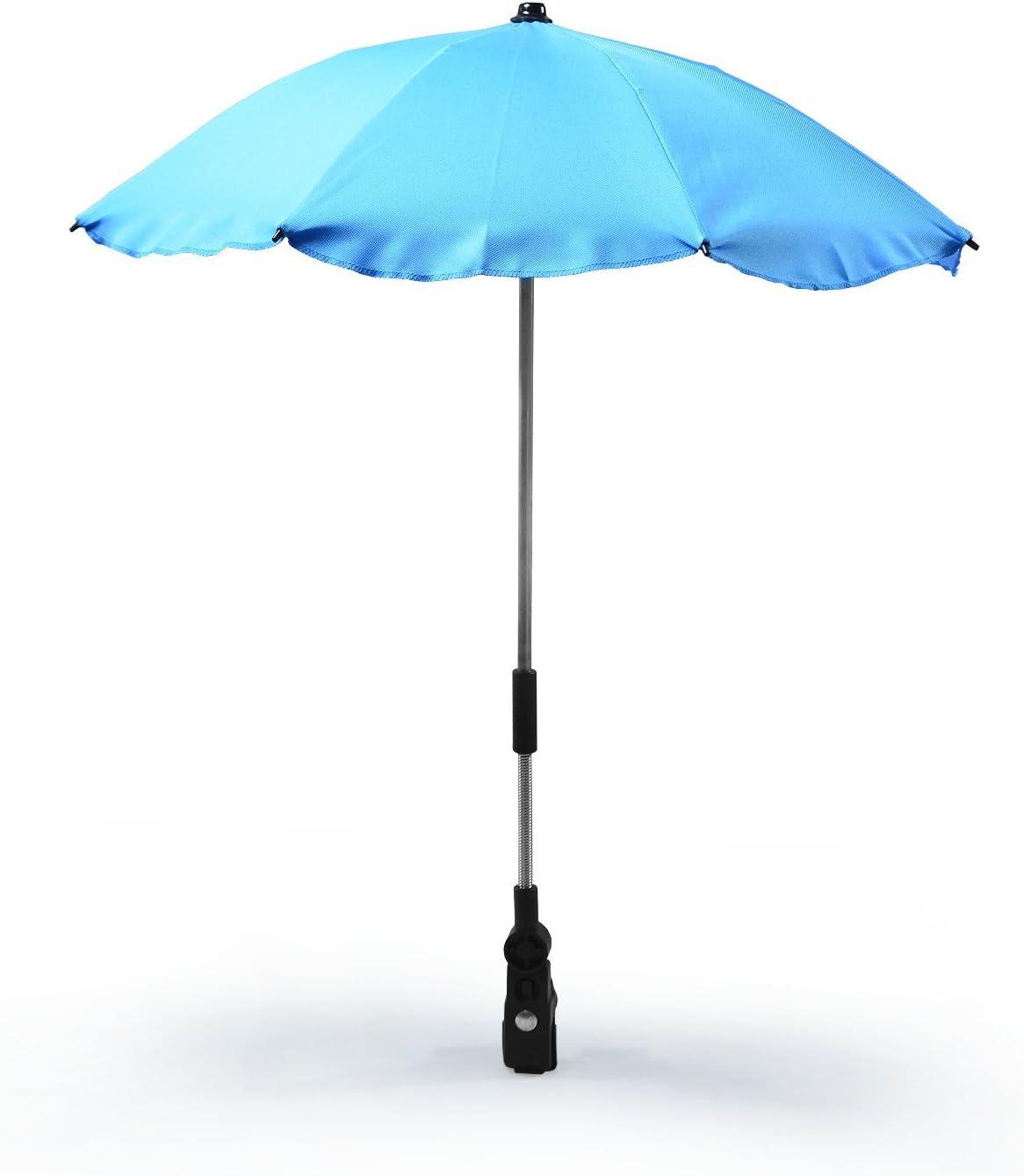 dos colores gris y azul Universal sombrilla paraguas para carrito y Sport Buggy pantalla para cochecito de beb/é con soporte universal UV schutz50/+ toldo Protecci/ón Solar