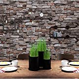 Blooming Wall Faux Stone Brick Wall Mural Wallpaper Vinyl for Livingroom Bedroom, 20.8 In32.8 Ft=57 Sq.ft. (5703)