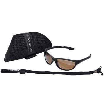 cbc5cb8d488 Wychwood Black Wrap Sunglasses Brown Lense  Amazon.co.uk  Sports ...