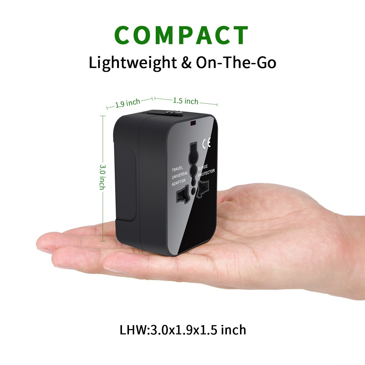NEWVANGA International Universal All in One Worldwide Travel Adapter Wall Charger AC Power Plug Adapter with Dual USB Charging Ports for USA EU UK AUS European Cell Phone Laptop by NEWVANGA (Image #4)