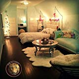 Quad Sheepskin Warm White Plus Sheep Pelt Baby Nursery Area Rug Custom Shape Handmade USA (3' x 5' feet)